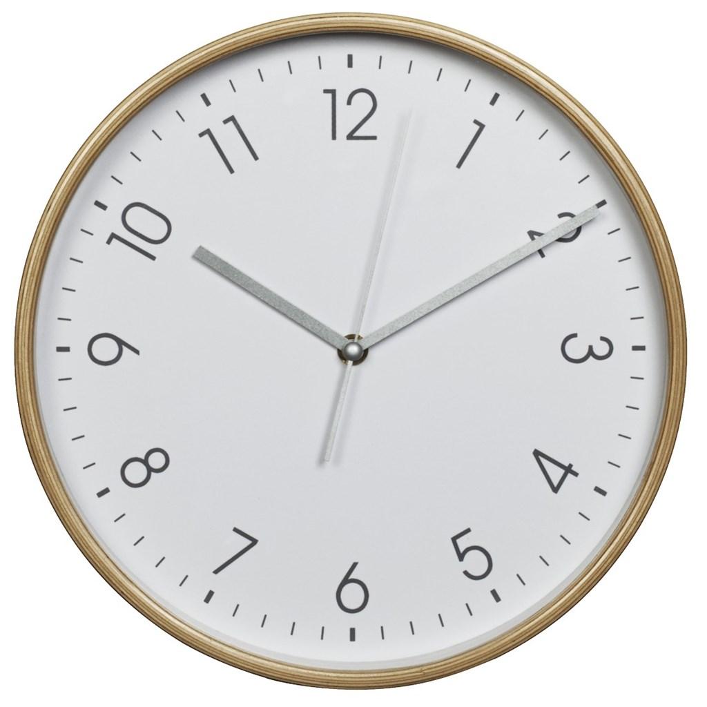Hama HG-250, dřevěné nástěnné hodiny, tichý chod, bílé
