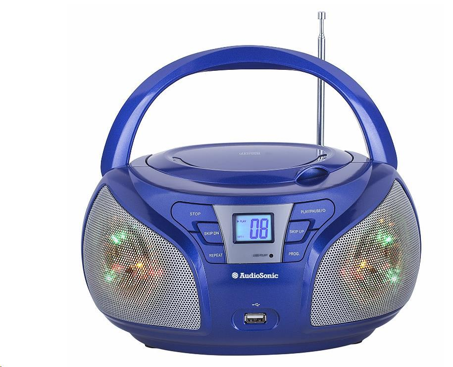AUDIOSONIC Stereo rádio, Disco LED světla CD-1561