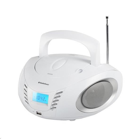 AUDIOSONIC Stereo radio CD, MP3, USB, 2x 3 Watt CD-1593