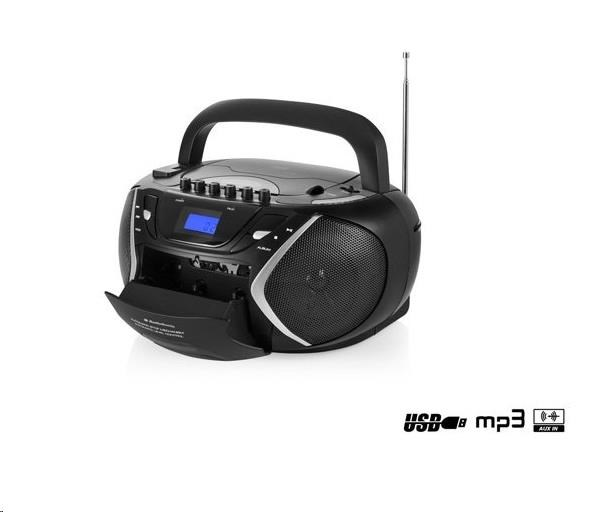 AUDIOSONIC Stereo rádio CD, USB, MP3, kazety CD-1596