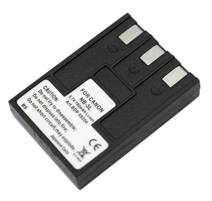 Doerr Akumulátor DDP-CNB3L (D23, CANON NB-3L - 3,7 V/790 mAh - Ix.II,IIs,i,i5,700,750)