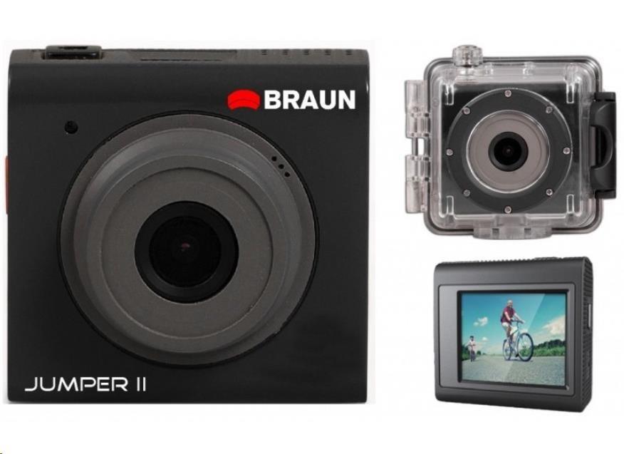 Braun JUMPER II digitální minikamera (mSD 32GB, Li-Ion 220mAh/70min, USB2, 51x50x25mm, 60g)