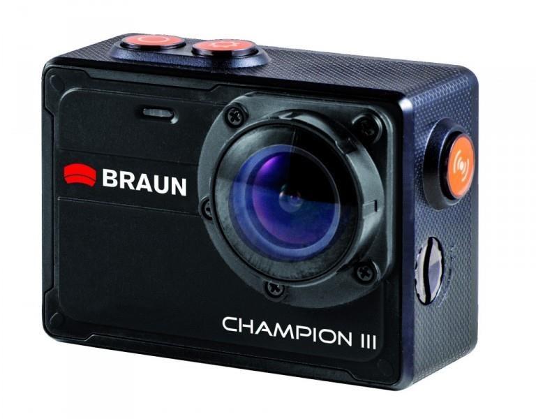 Braun CHAMPION III digitální minikamera (tělo 10m voděodolné, Li-Ion 800mAh, 59x43x22mm, 62g)