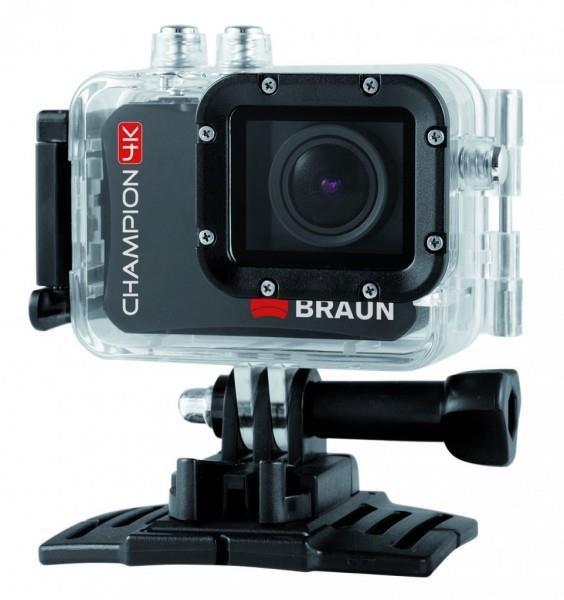 Braun CHAMPION 4K digitální minikamera (tělo + 60m UW pouzdro, Li-Ion 1000mAh, 59x43x22mm, 62g)