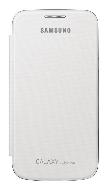 Samsung flipové pouzdro EF-FG350NW pro Galaxy Core Plus, bílá
