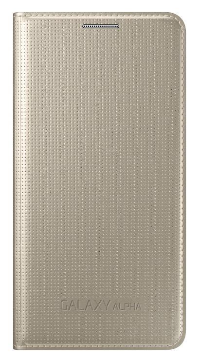 Samsung flipové pouzdro EF-FG850BB pro Samsung Galaxy Alpha (SM-G850), zlatá