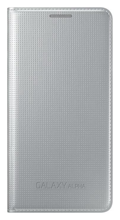 Samsung flipové pouzdro EF-FG850B pro Samsung Galaxy Alpha (SM-G850), stříbrná