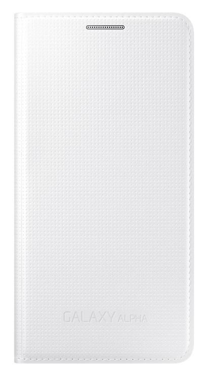 Samsung flipové pouzdro EF-FG850B pro Samsung Galaxy Alpha (SM-G850), bílá