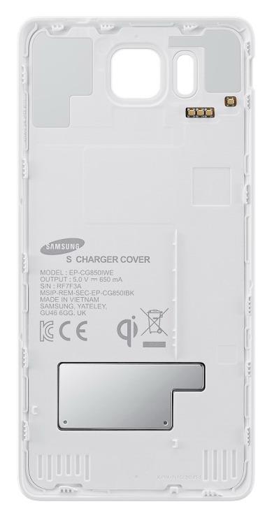 Samsung zadní kryt pro bezdrátové nabíjení EP-CG850I pro Galaxy Alpha (SM-G850), bílá