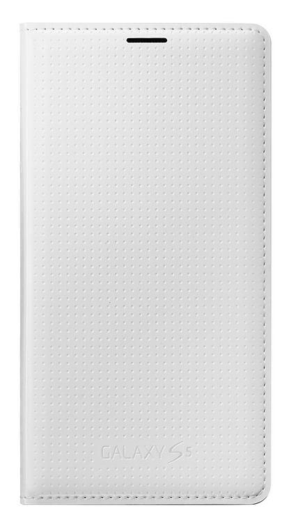 Samsung flipové pouzdro s kapsou EF-WG900B pro Samsung Galaxy S5 (SM-G900), Shimmery White