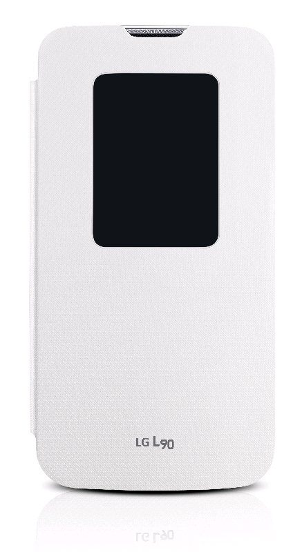 LG flipové pouzdro QuickWindow CCF-380 pro LG D405n L90, bílá