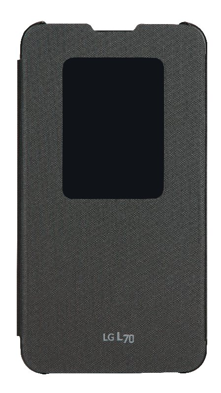 LG flipové pouzdro QuickWindow CCF-400 pro LG D320n L70, černá