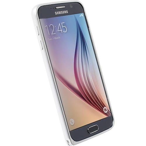 Krusell hliníkový rámeček SALA pro Samsung Galaxy S6, stříbrná