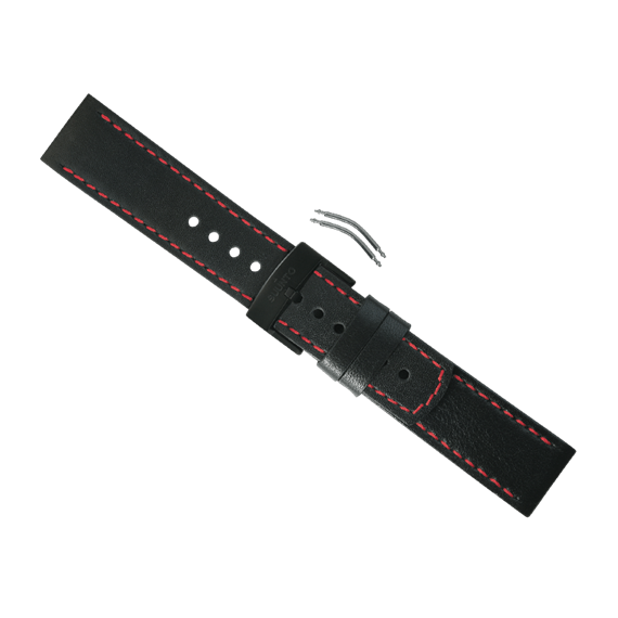 Suunto Elementum black/red leather strap