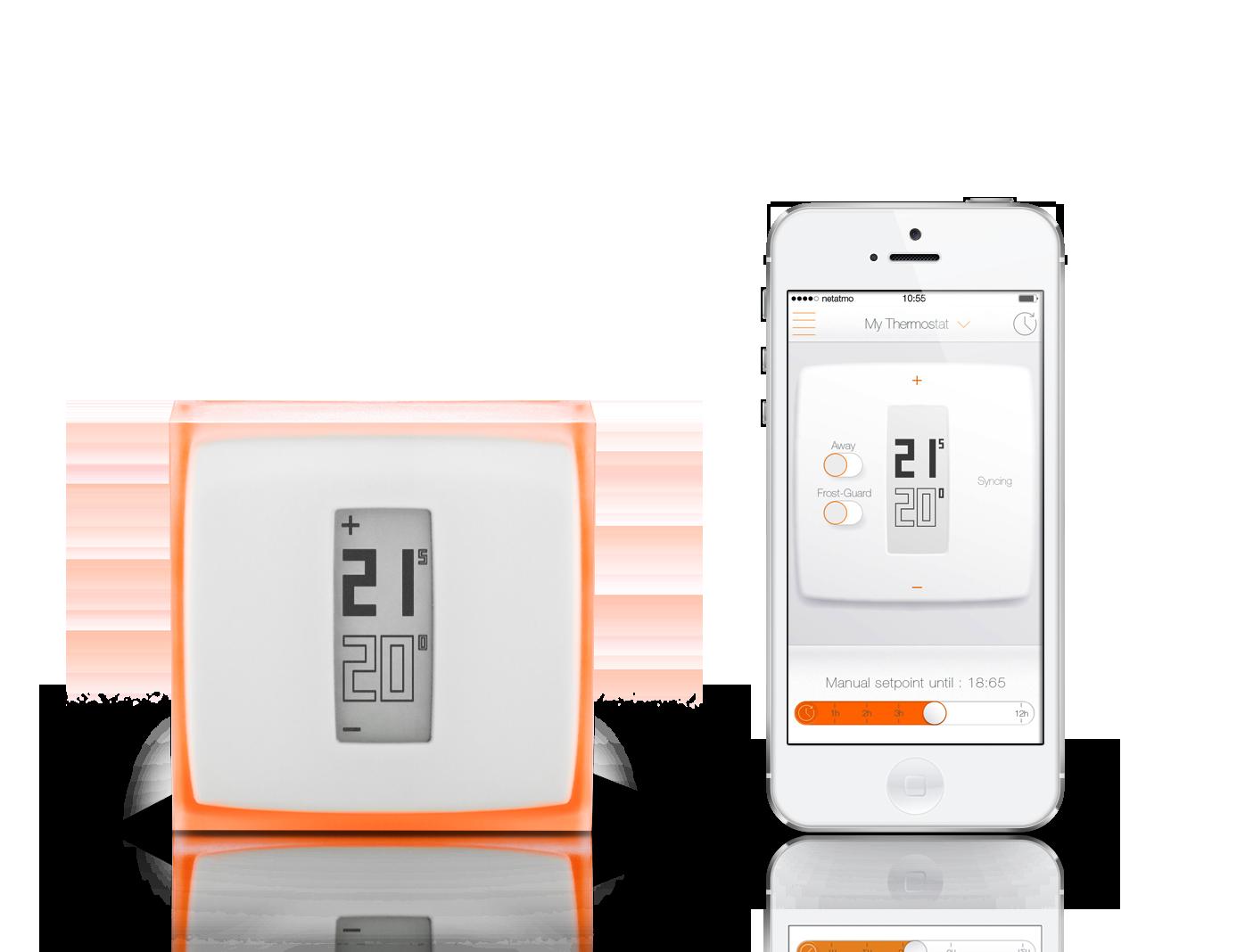 Netatmo Thermostat Wi-Fi termostat pro iOS Android zařízení