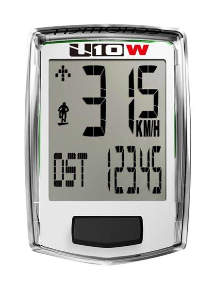 Echowell U10W bezdrátový cyklo počítač, bílá