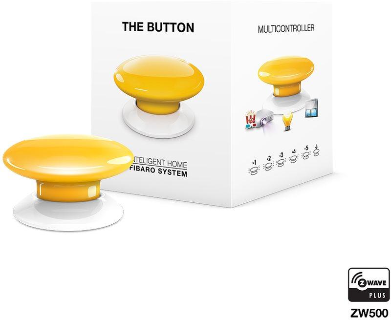 Fibaro The Button, multifunkční tlačítko, Z-Wave Plus, žlutá