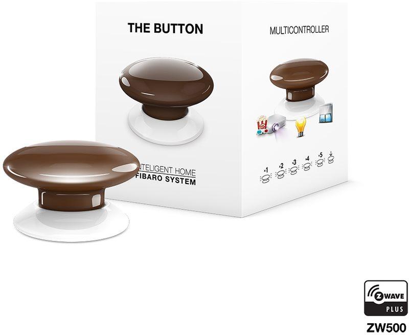 Fibaro The Button, multifunkční tlačítko, Z-Wave Plus, hnědá