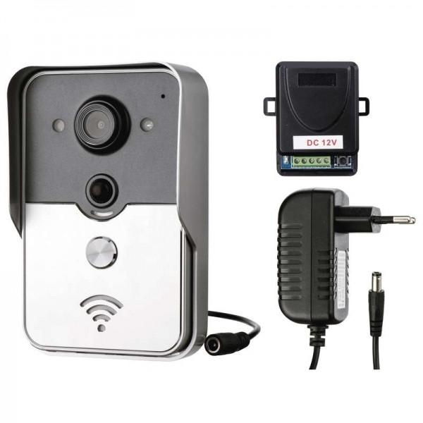 Emos dveřní IP kamera H1133, barevná, 1 tlačítko