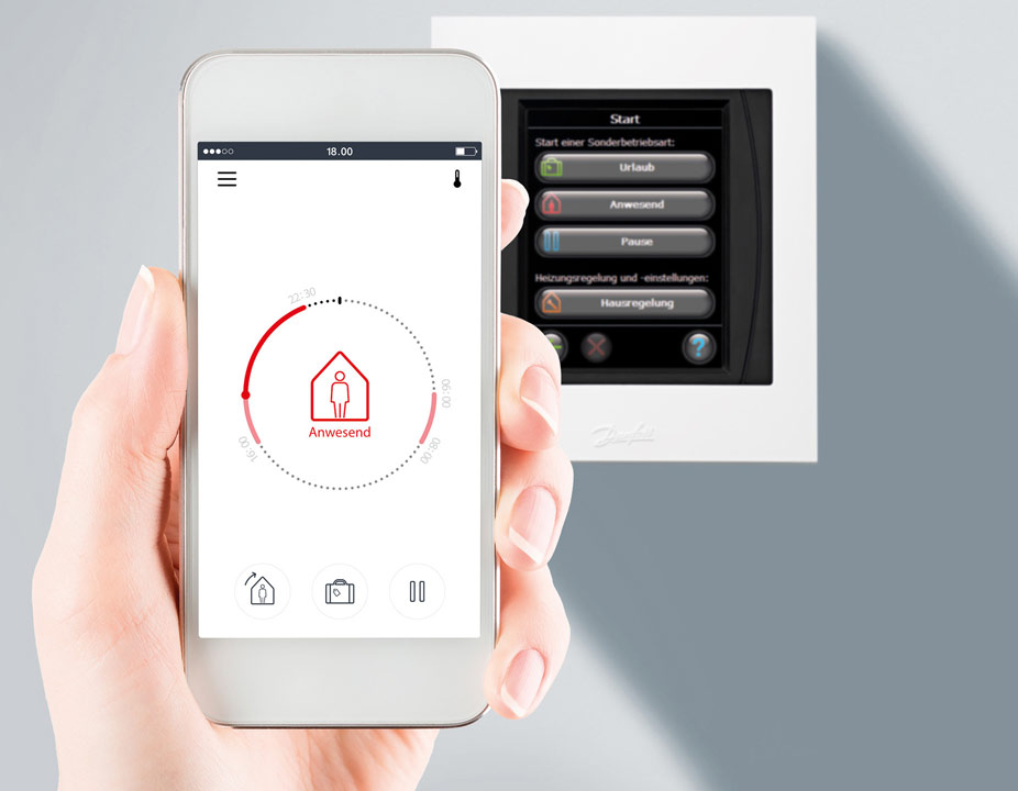 Danfoss Link CC Wifi NSU řídící jednotka, napájení flexi šňůrou