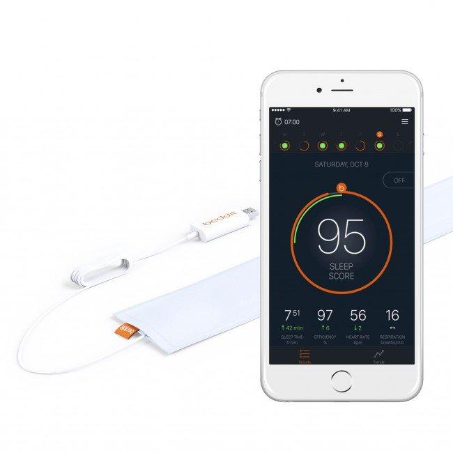 Beddit B3 podrobný monitor spánku - bílý