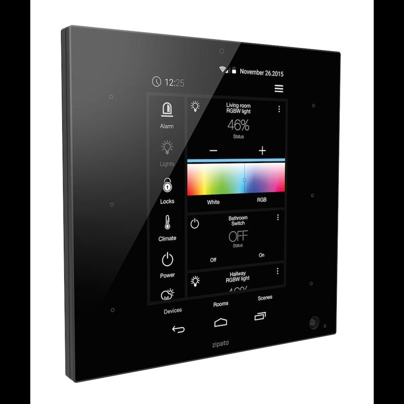 Zipato ZipaTile, Z-Wave Plus + ZigBee HA , černá