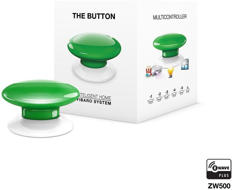 Fibaro The Button, multifunkční tlačítko, Z-Wave Plus, zelená