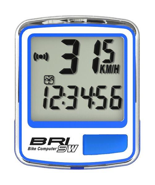 Echowell BRI9W bezdrátový cyklo počítač, modrá