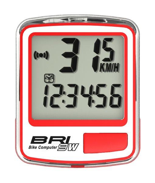 Echowell BRI9W bezdrátový cyklo počítač, červená