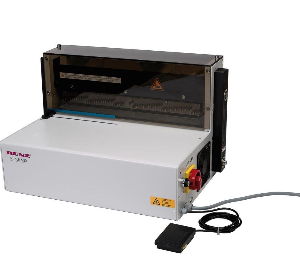 Elektrický děrovací stroj RENZ Punch 500 ES