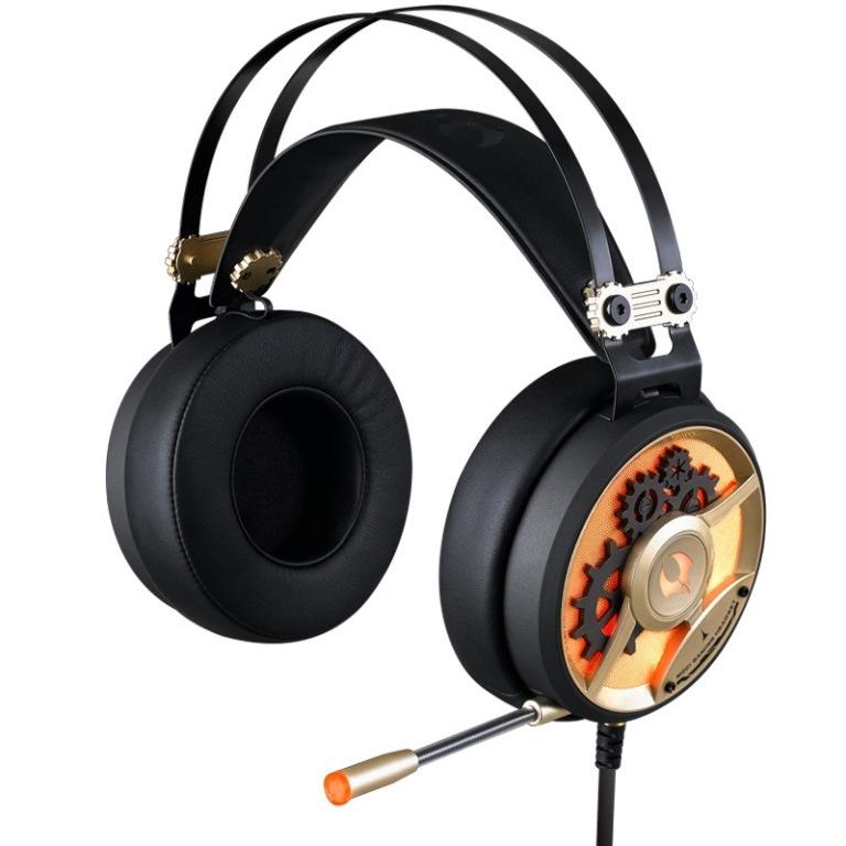 A4tech Bloody M660, herní sluchátka, zlatá barva