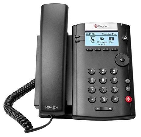 Polycom IP telefon VVX 201, Skype, 2 linkový, 2x 10/100, HD Voice, PoE