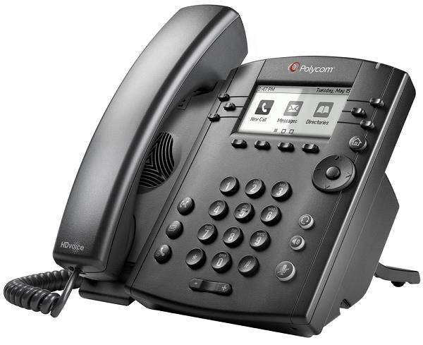 Polycom IP telefon VVX 301, Skype, 6 linkový, 2x 10/100, HD Voice, PoE