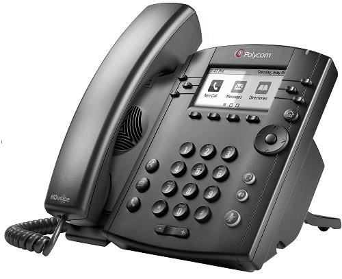 Polycom IP telefon VVX 311, Skype, 6 linkový, 2x 1 Gb, HD Voice, PoE