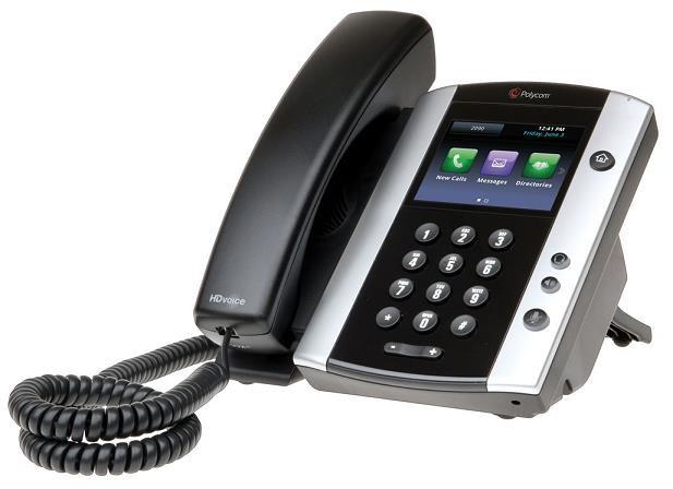 Polycom IP telefon VVX 501, Skype, 12 linkový, kapacitní LCD, 2x USB, USB záznam, PoE