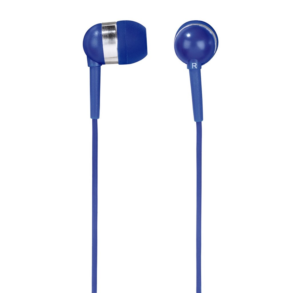 Hama sluchátka s mikrofonem Vivo, silikonové špunty, modrá