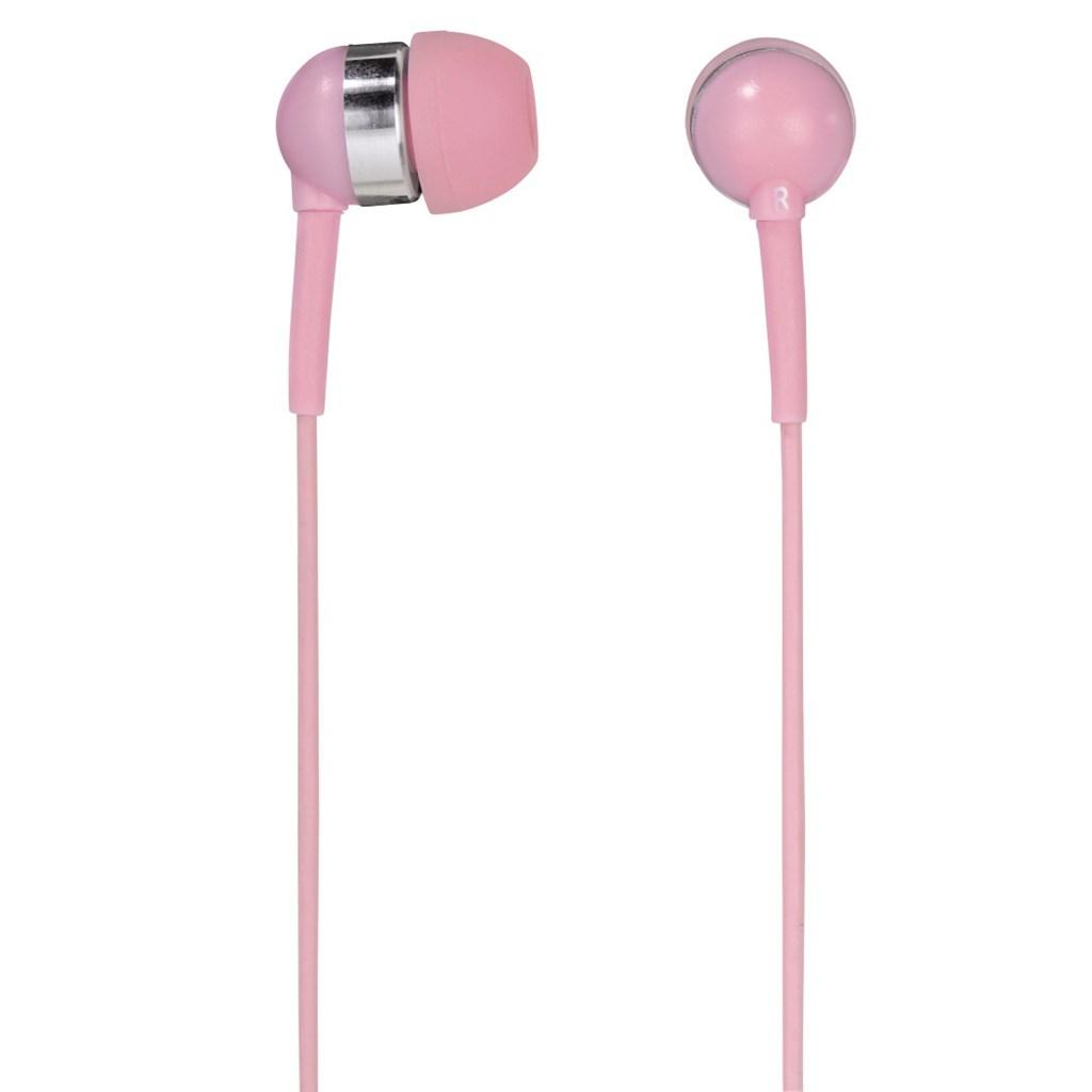 Hama sluchátka s mikrofonem Vivo, silikonové špunty, růžová