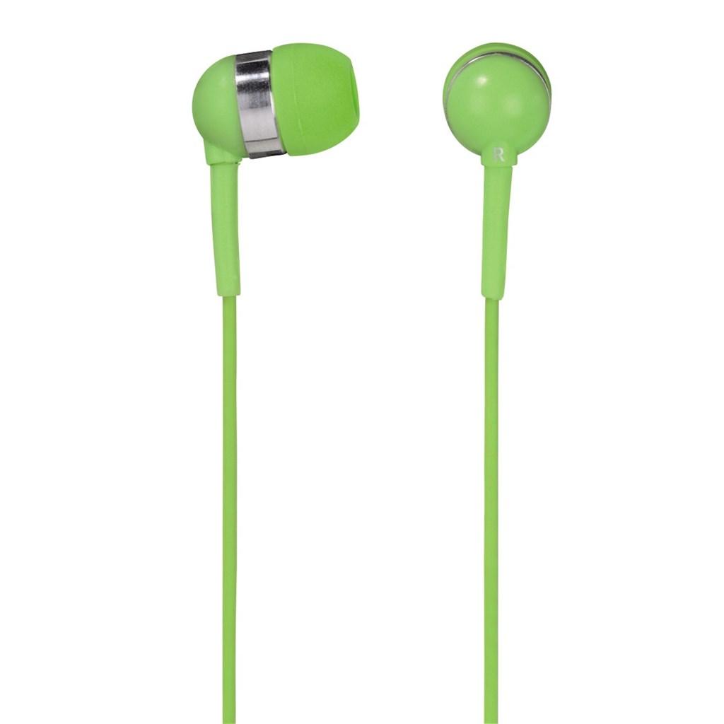 Hama sluchátka s mikrofonem Vivo, silikonové špunty, zelená