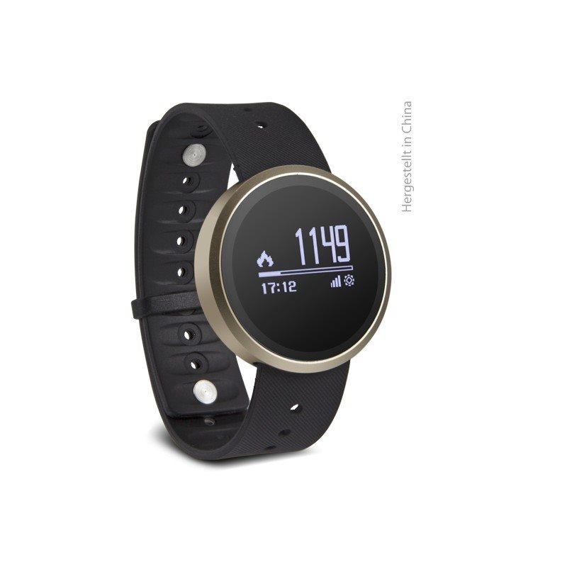 Swisstone SW 500, chytré bluetooth hodinky se senzorem UV záření, zlatá