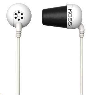 KOSS sluchátka THE PLUG bílá, sluchátka do uší, bez kódu