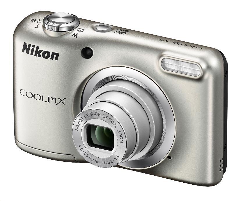 Nikon kompakt Coolpix A10, 16.1 Mpix, 5x zoom - stříbrný - Rozbalený