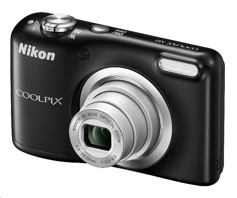 Nikon kompakt Coolpix A10, 16.1 Mpix, 5x zoom - černý - rozbaleny