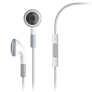 Apple sluchátka s ovládáním a mikrofonem, bílá