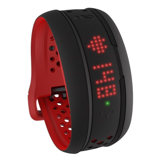 Mio FUSE senzor srdečního tepu, denní aktivity a spánku - dlouhý pásek - červený