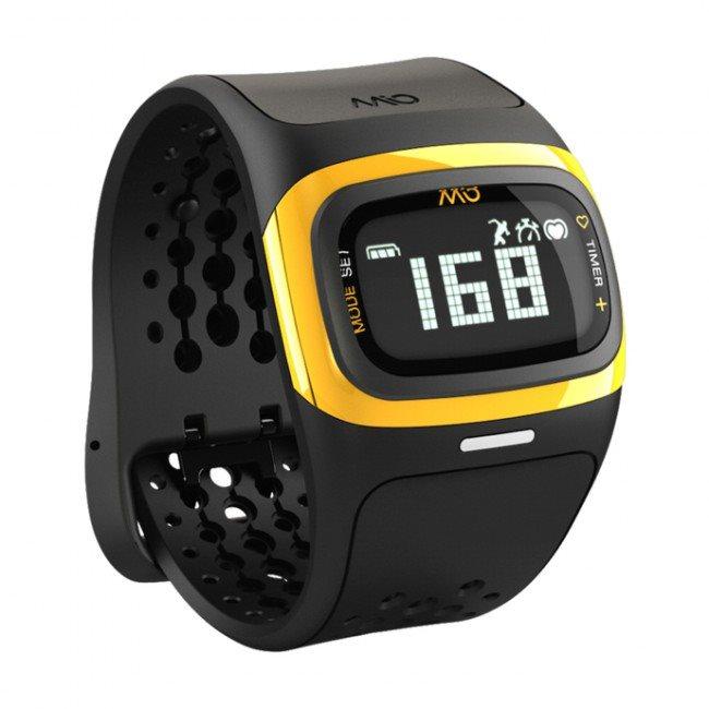 Mio ALPHA 2 sportovní hodinky BT se senzorem srdečního tepu - žluté