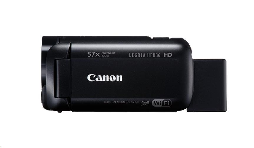 Canon Legria HF R86, Full HD, 57x zoom, WiFi - černá