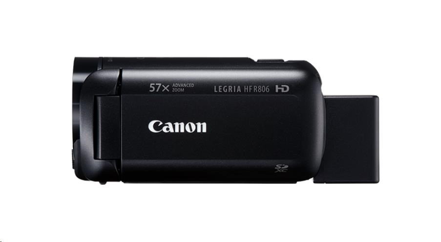 Canon Legria HF R806, Full HD, 57x zoom - černá