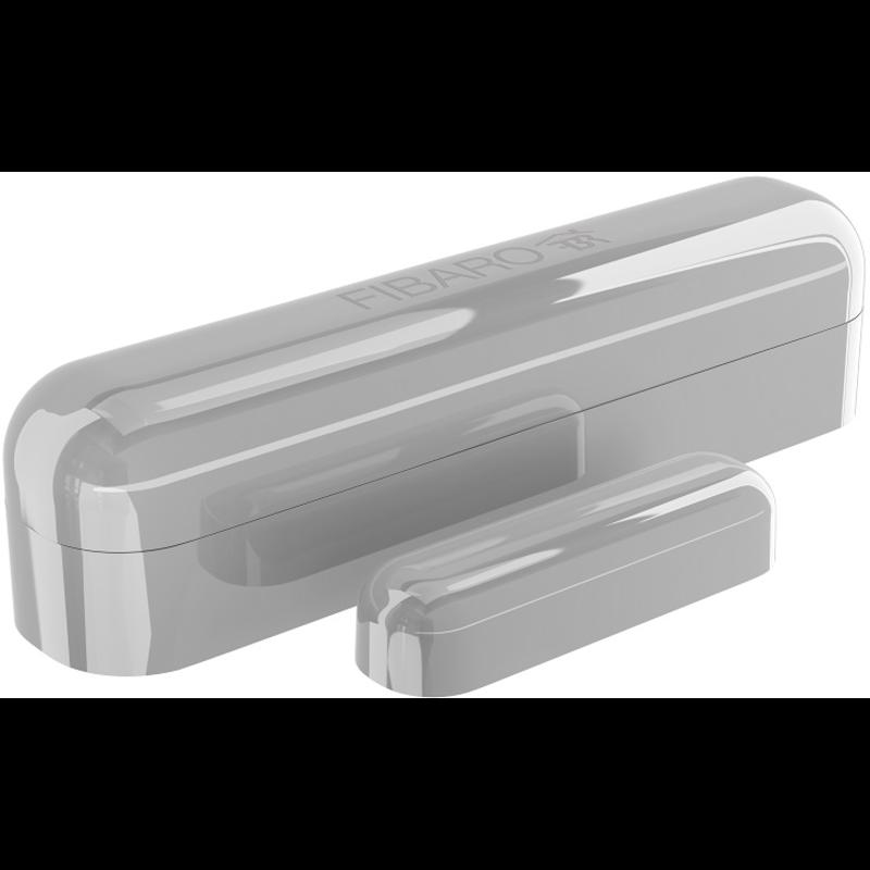 Fibaro bateriový Senzor (magnetický kontakt) na okna a dveře, Z-Wave Plus, stříbrný