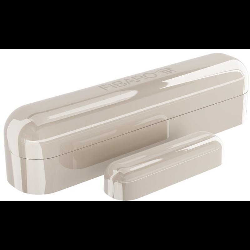 Fibaro bateriový Senzor (magnetický kontakt) na okna a dveře, Z-Wave Plus, krémový