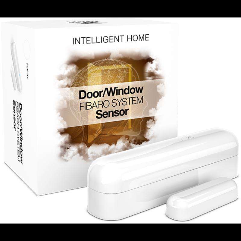 Fibaro bateriový Senzor (magnetický kontakt) na okna a dveře, Z-Wave Plus, bílý